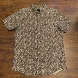 RVCA slim fit floral button up